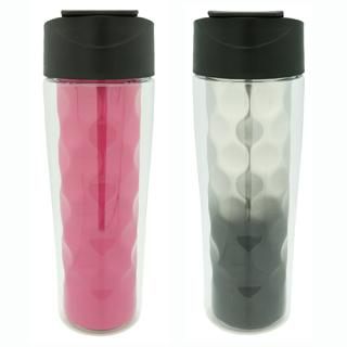 2 in 1 Double Wall Tritan Water Bottle Flip Cap