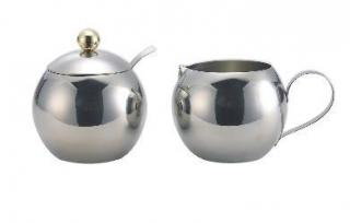 Stainless Steel Milk & Sugar Bowl Set