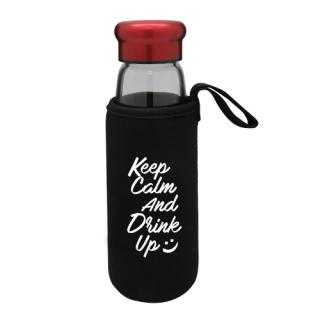 Portable Glass Water Bottle With Protective Bag