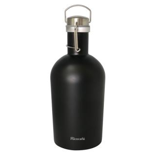 Stainless Steel Single Wall Growler Bottle Black 2.0L