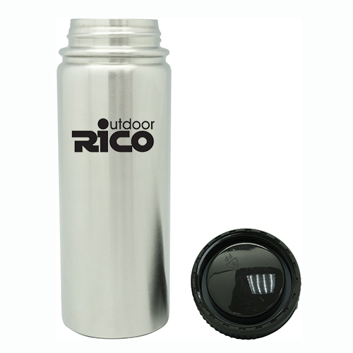Durable Stainless Steel Vacuum Sports Bottle Silver 18oz