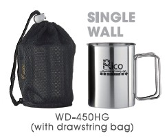 Stainless Steel Mug with folding Handle