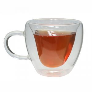 Double Wall Glass Heart Shape Coffee Cup