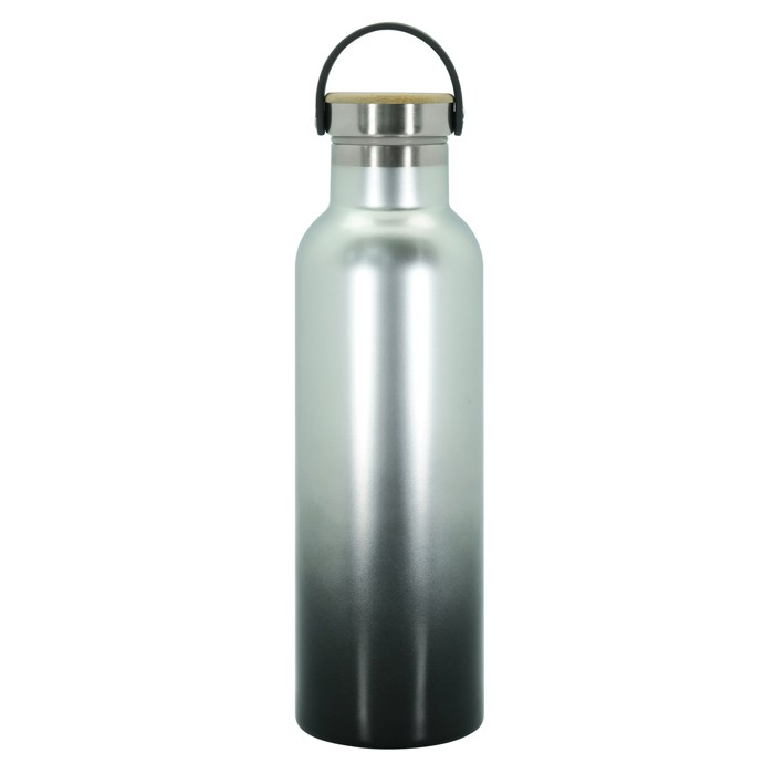 Stainless Steel Vacuum Water Bottle with Wood Cap