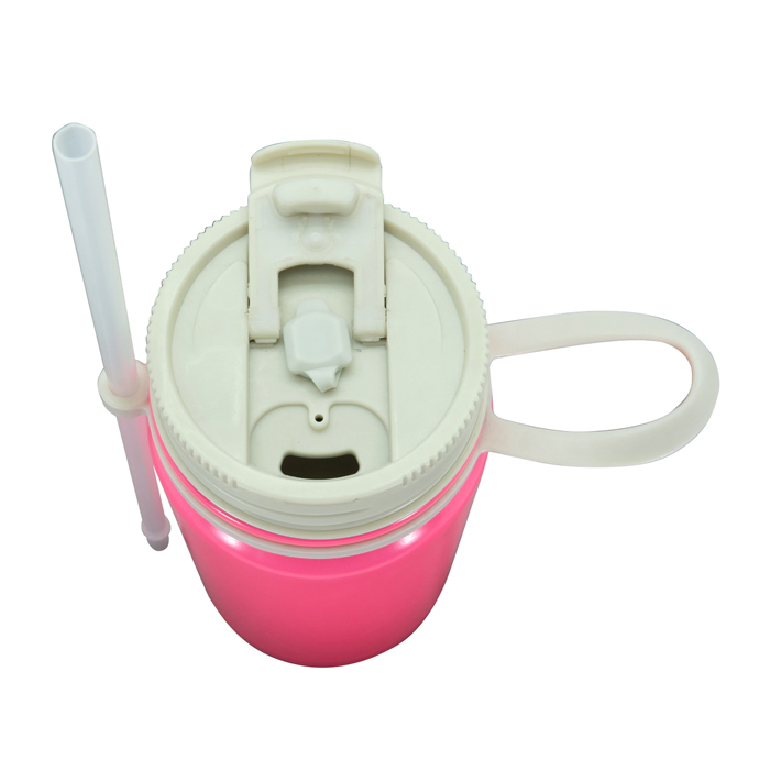 Stainless Steel Vacuum Water Mug with Straw
