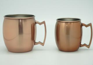 Stainless Steel Single Wall Mug with Copper-plated