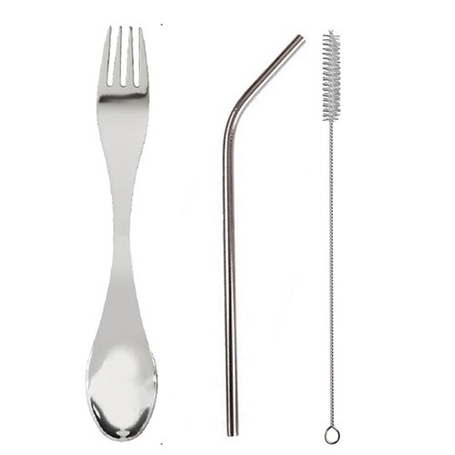 Dual Stainless Steel Metalware Straw Set