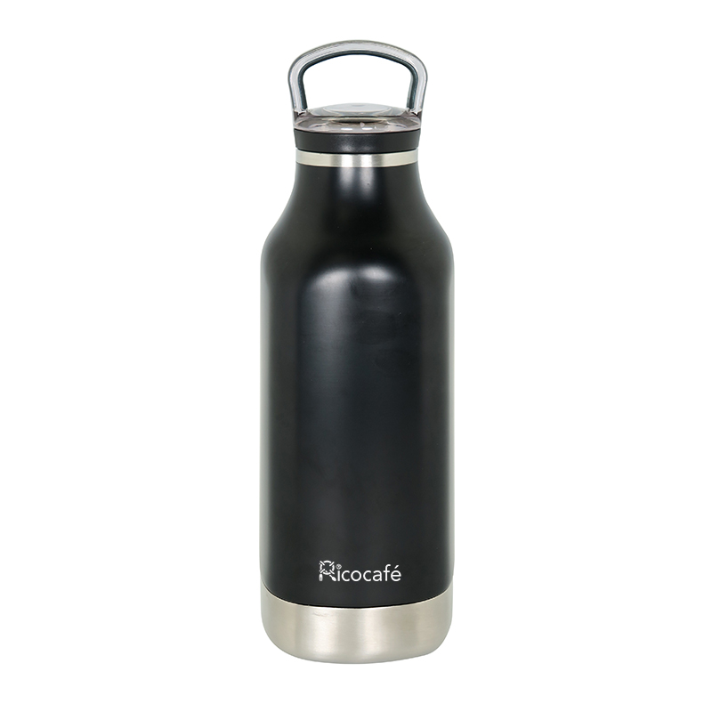 Stainless Steel Vacuum Square Bottle With 2 Finger Lid